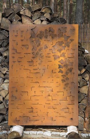 Obraz-metalowy-na-ścianę-bluszcz-na-cegle_7
