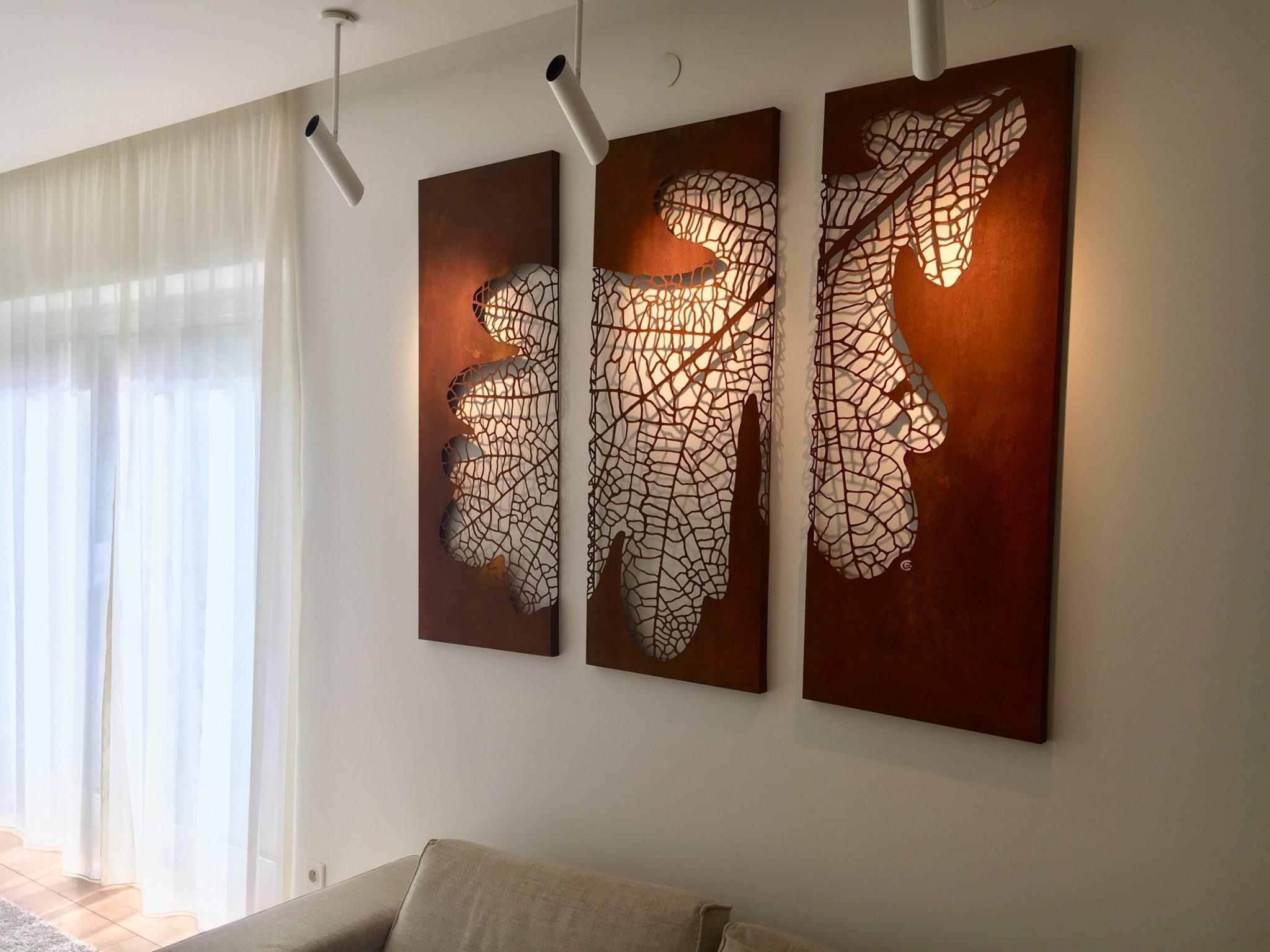 Obraz-metalowy-na-ścianę-liść-dębu_11