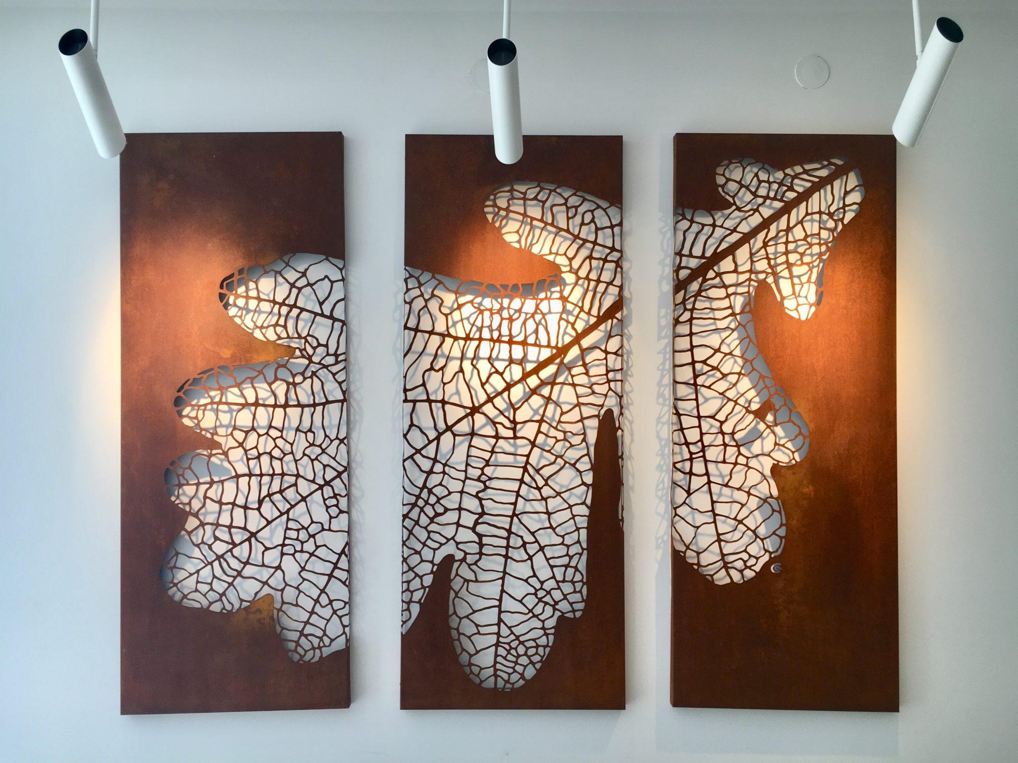 Obraz-metalowy-na-ścianę-liść-dębu_12