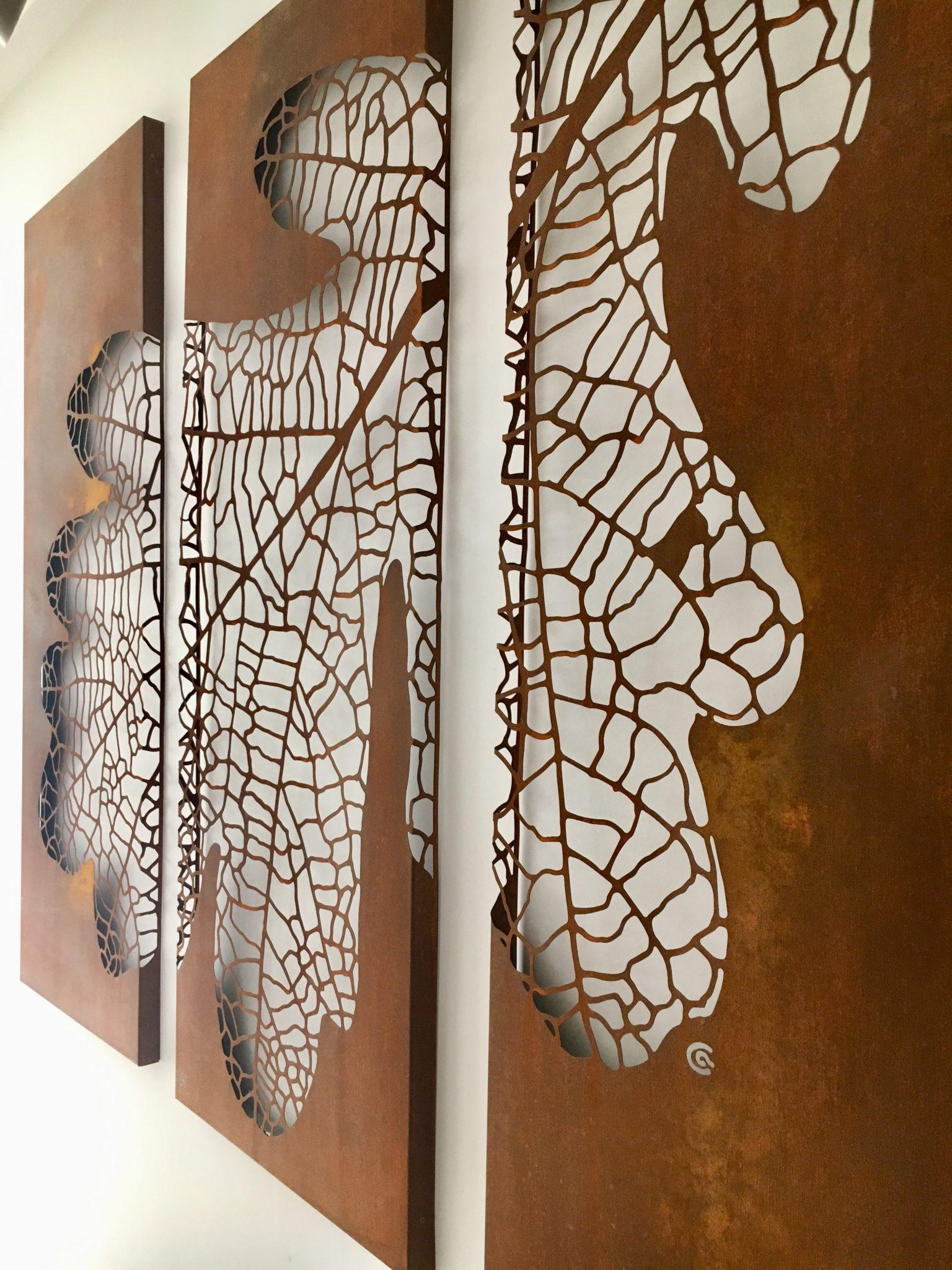Obraz-metalowy-na-ścianę-liść-dębu_14