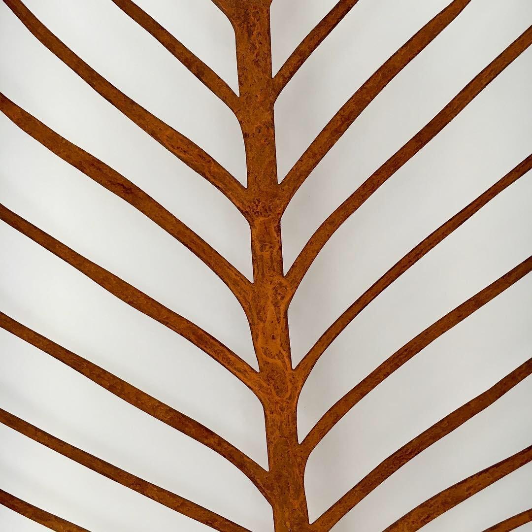 Obraz metalowy na ścianę liść grabu_5