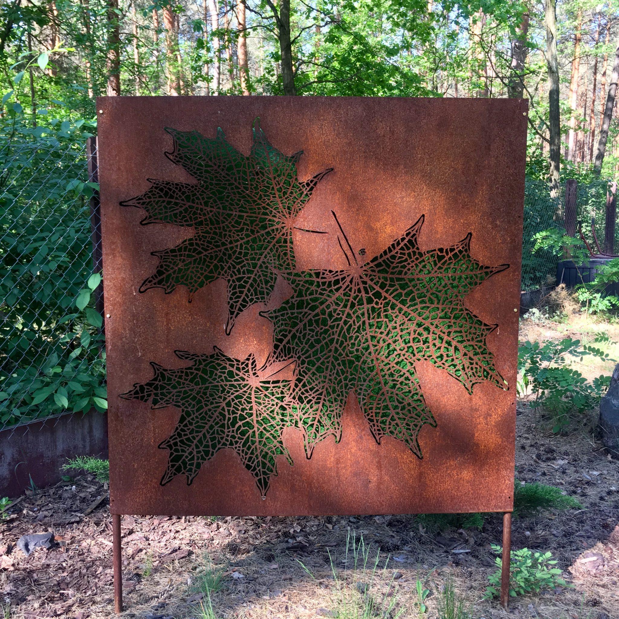 Obraz-metalowy-na-ścianę-liście-klonu_2