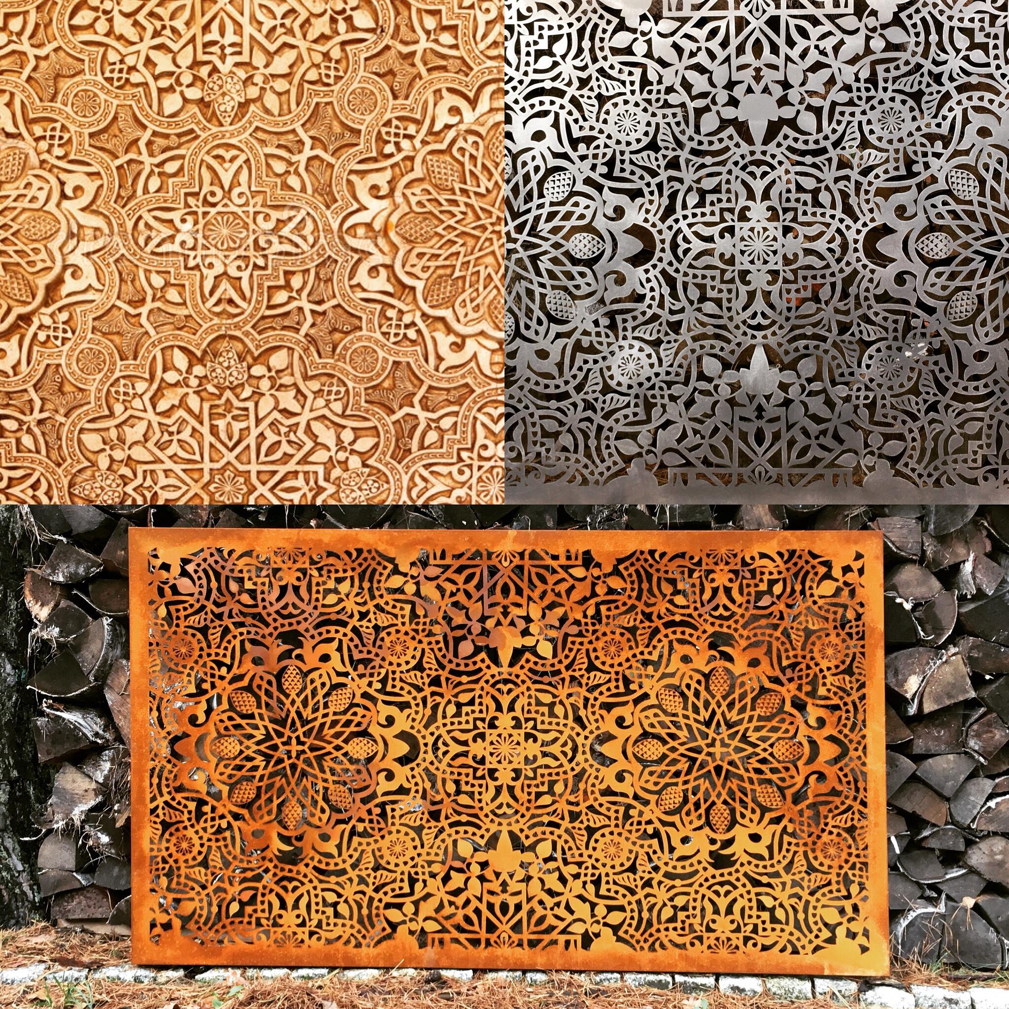 Obraz-metalowy-na-ścianę-wzór-mauretański_1