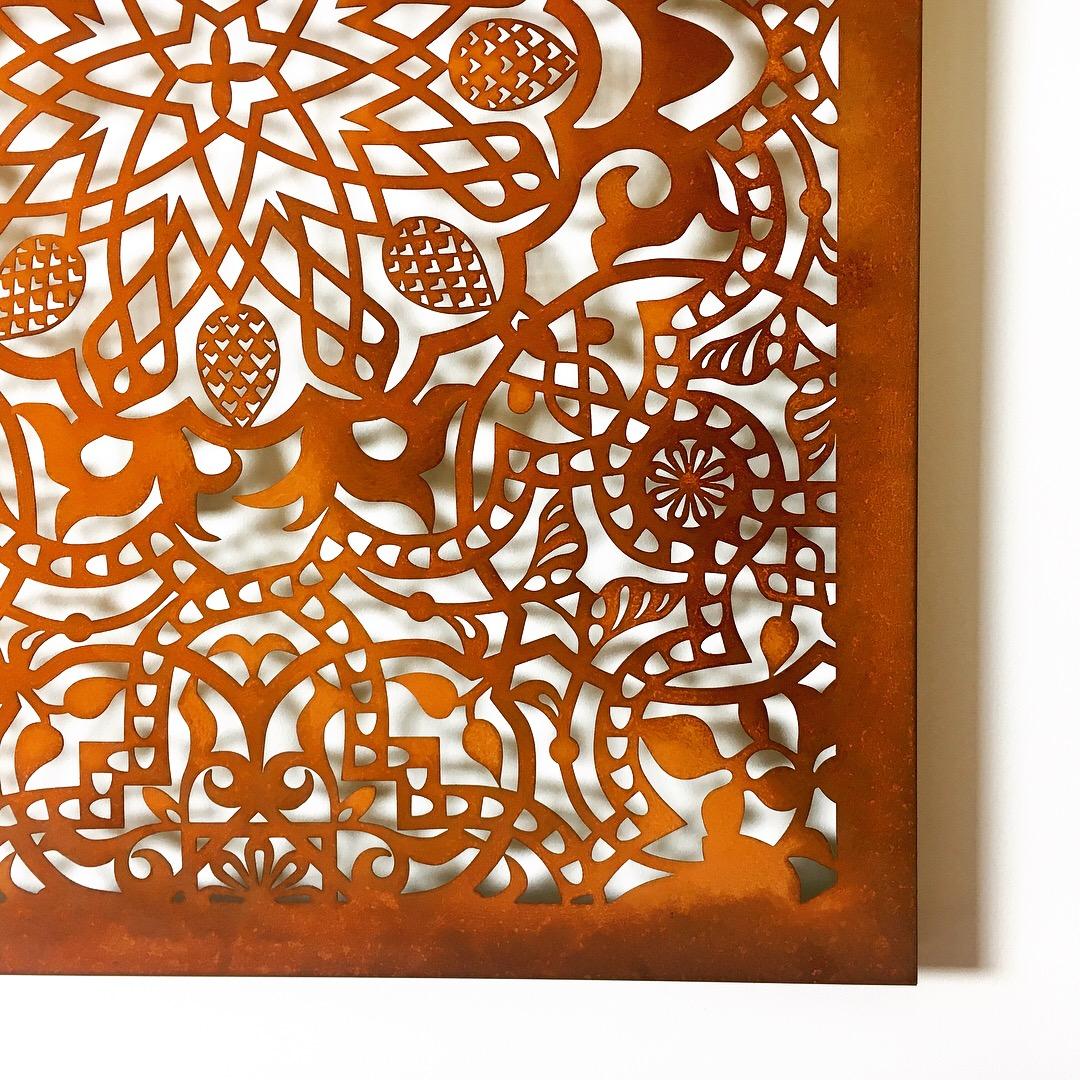Obraz-metalowy-na-ścianę-wzór-mauretański_5
