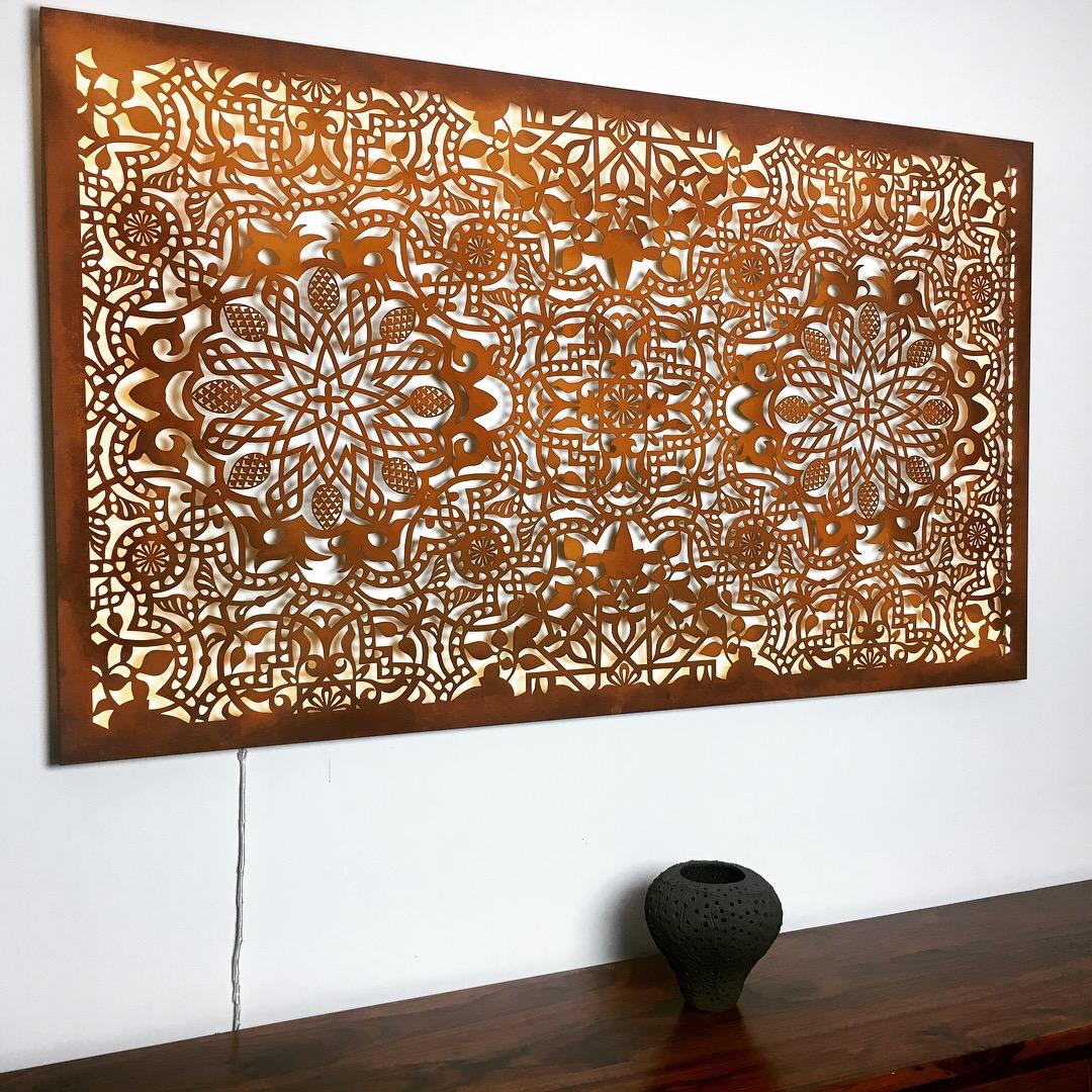 Obraz-metalowy-na-ścianę-wzór-mauretański_6