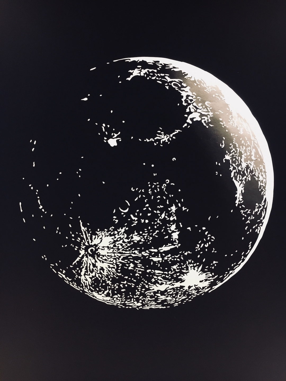 Obraz metalowy na ścianę księżyc