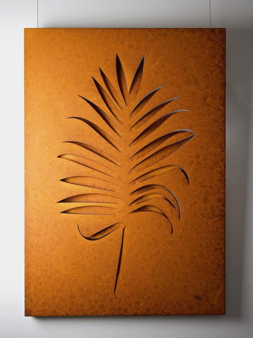 Obraz metalowy na ścianę liść palmy_11