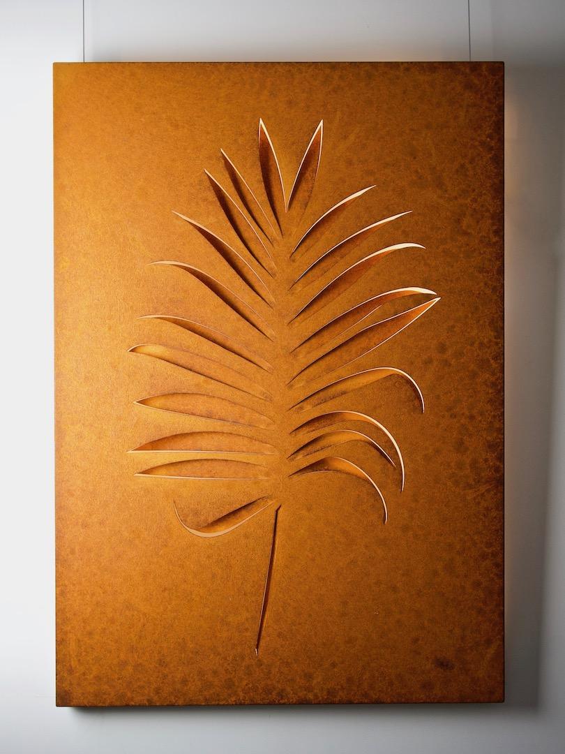 Obraz metalowy na ścianę liść palmy_12