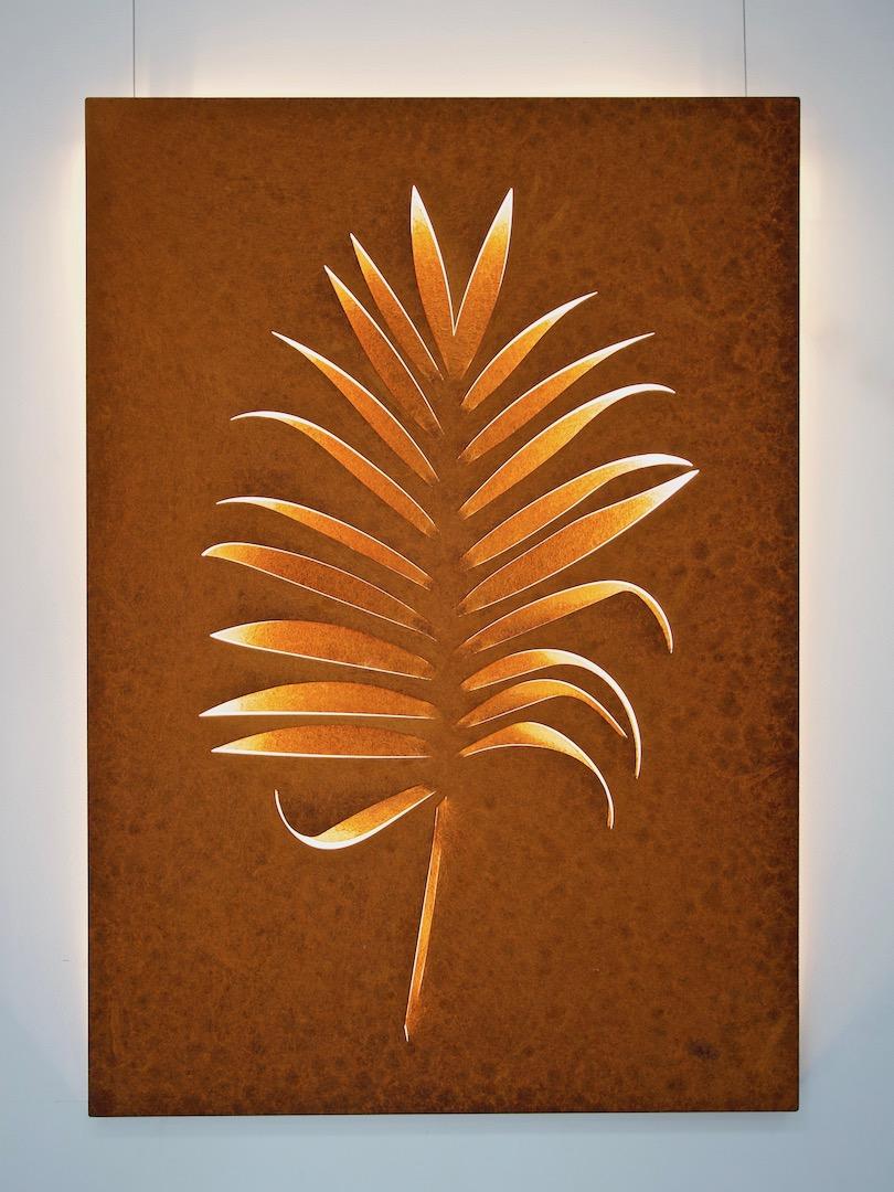 Obraz metalowy na ścianę liść palmy_13