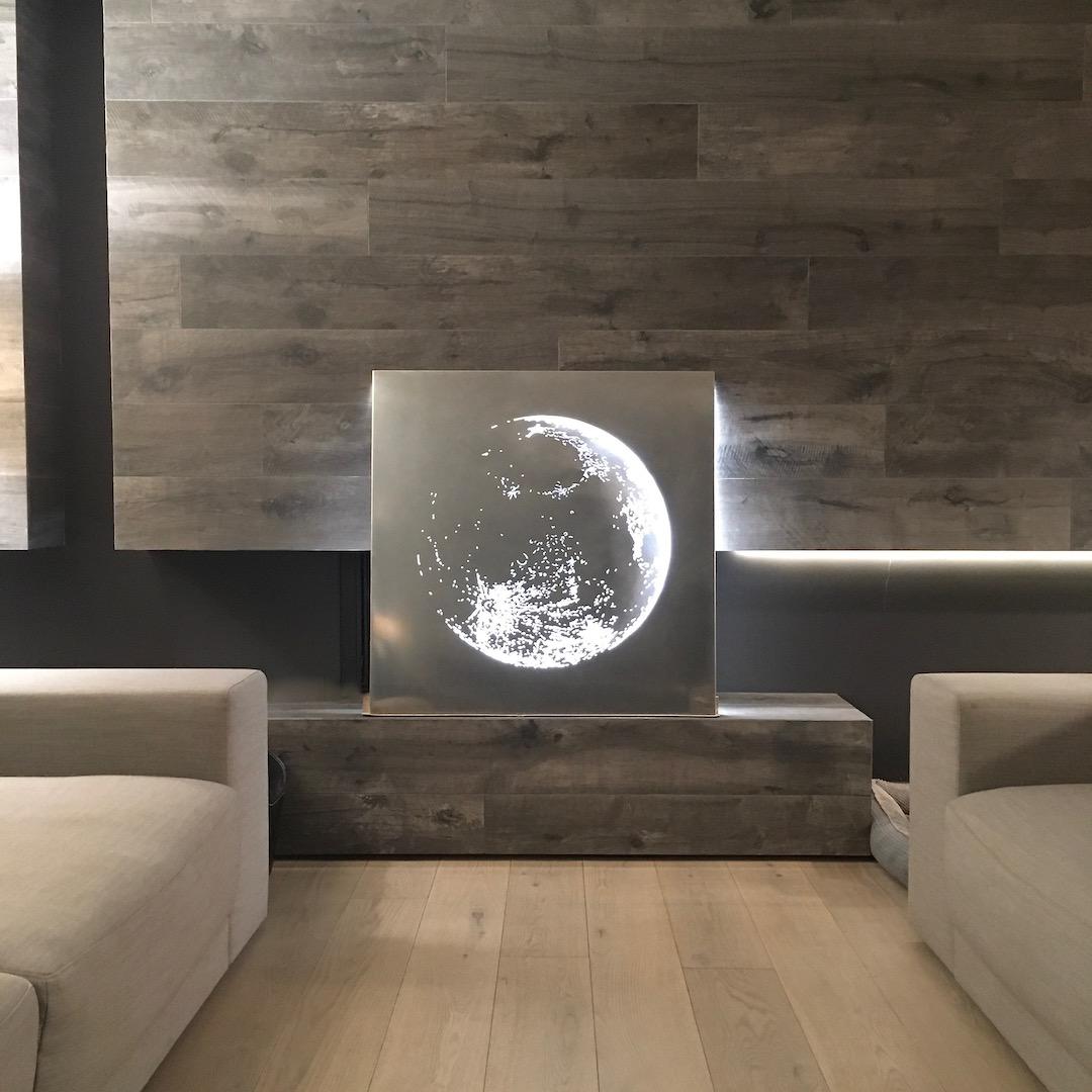 Obraz metalowy na ścianę stal nierdzewna księżyc_2