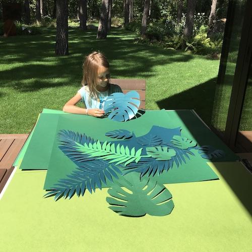 DIY tropikalne liście z papieru