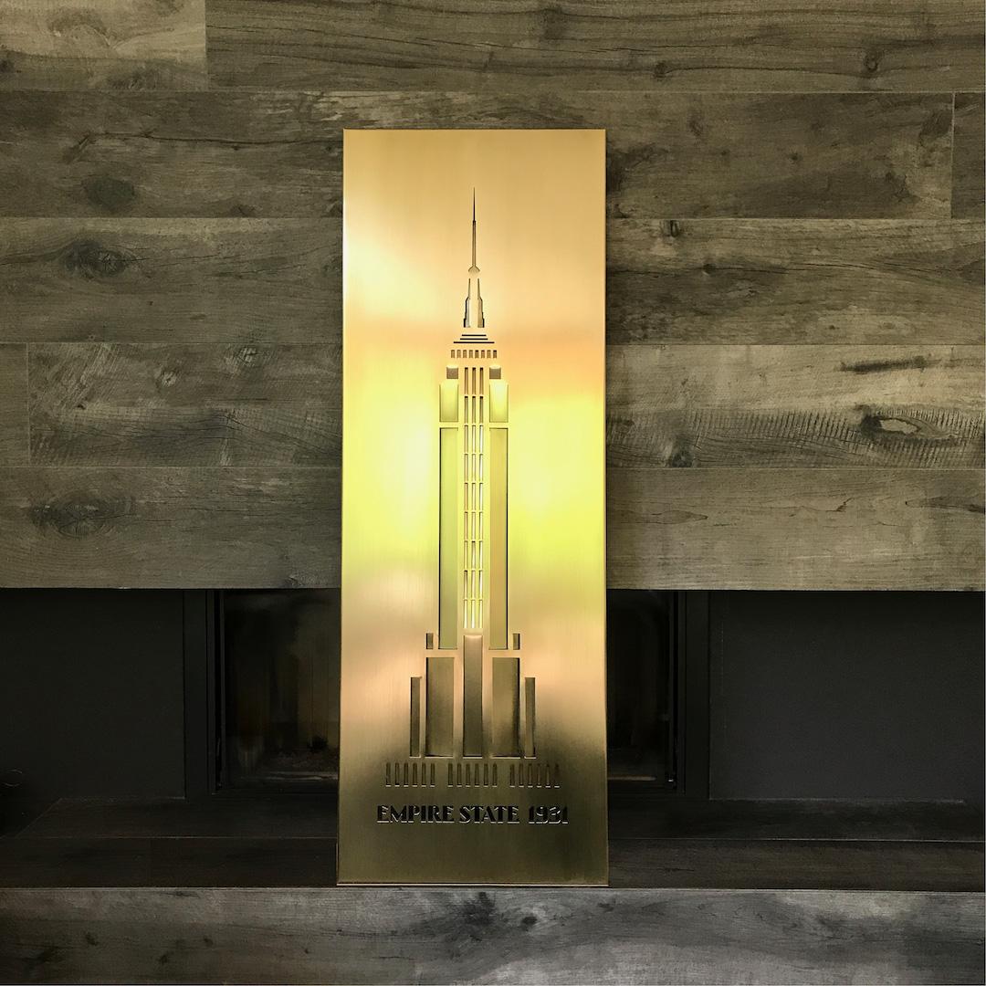 Obraz metalowy na ścianę Empire State_5