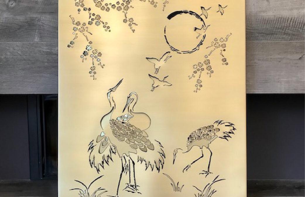 Cranes brass