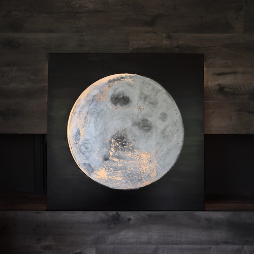 Moon with tannin coated steel