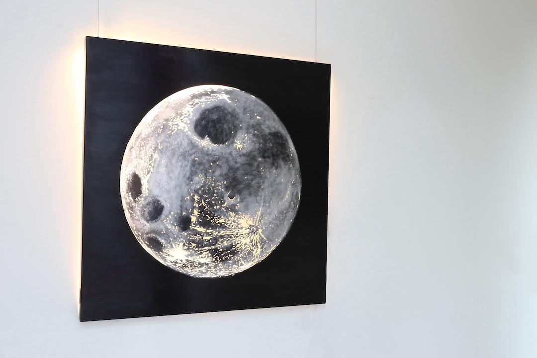 Obraz metalowy księżyc tanina