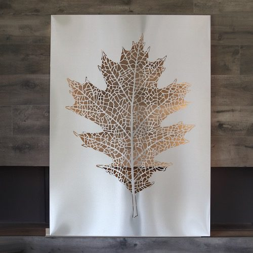 Leaf from stainless steel