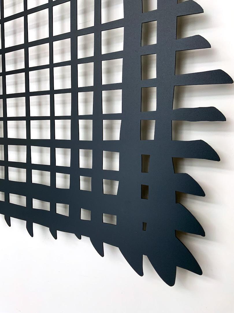 Obraz metalowy lakierowany linie odręczne