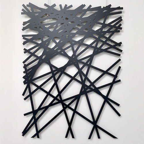 Lines – powder coated steel artwork