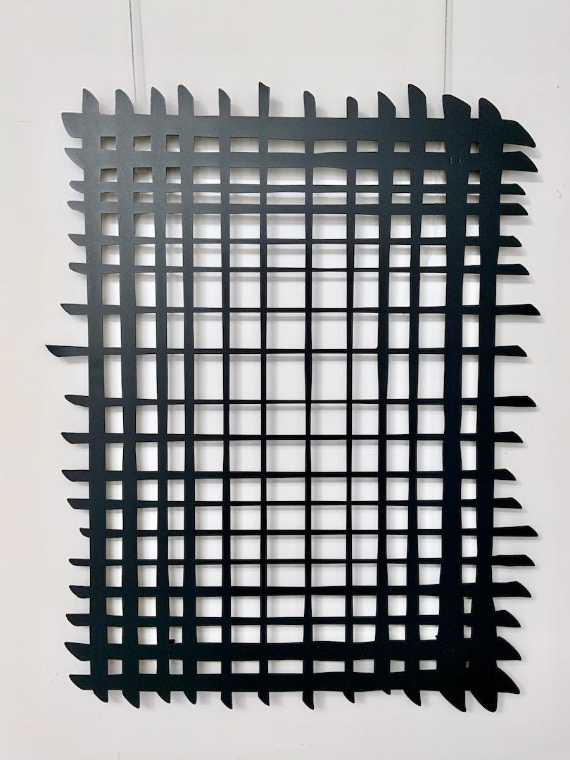 Obraz metalowy lakierowany linie