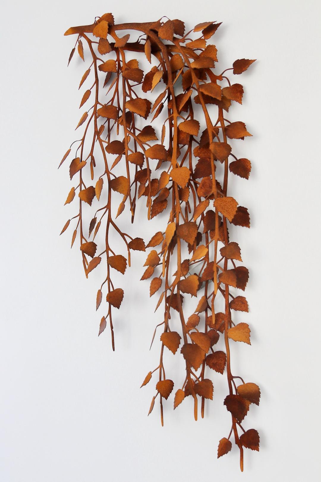 Instalacja gałęzie brzozy z cortenu