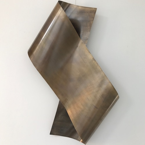 Scroll – a brass wall sculpture